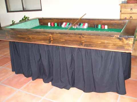 Craps table at a casino night in Albuquerque